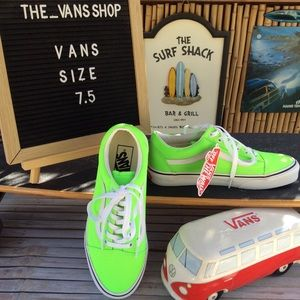 Vans Old Skool Neon Green True White Sneakers